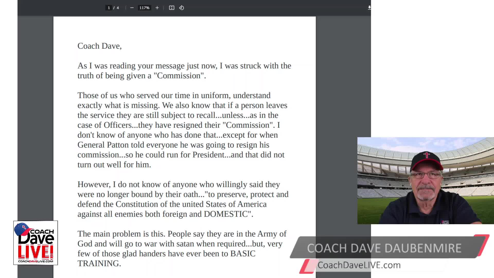 Coach Dave LIVE   4-5-2021   EASTER EGGS FROM HELICOPTERS? REALLY? - AUDIO ONLY