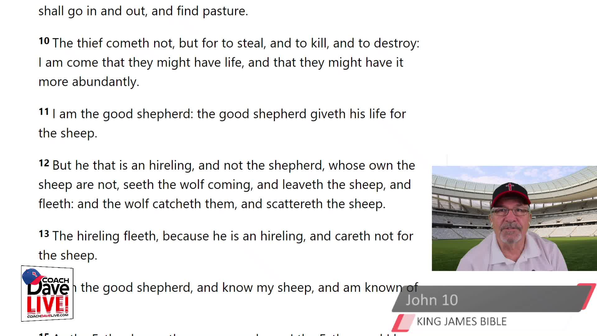 Coach Dave LIVE | 4-6-2021 | TRUE SHEPHERDS WILL DIE FOR THE SHEEP - AUDIO ONLY