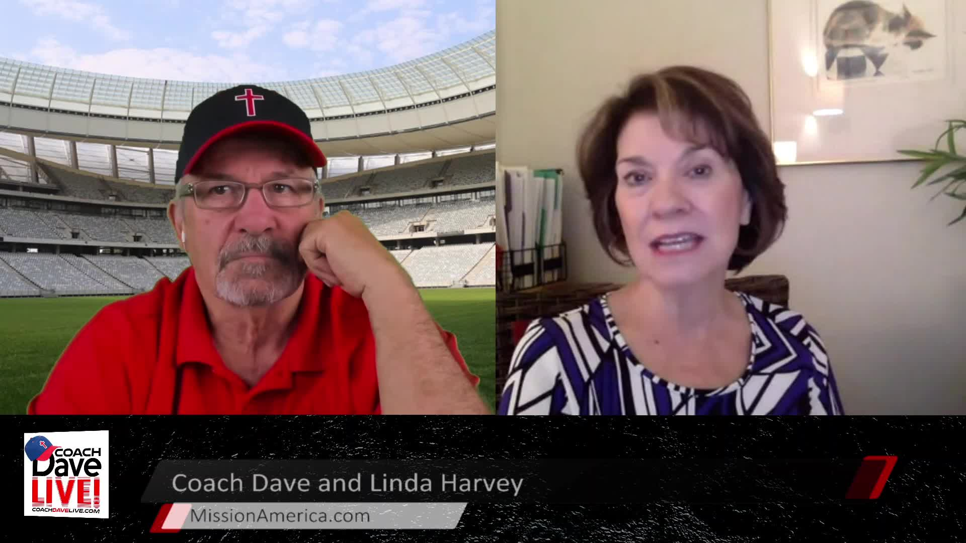 Coach Dave LIVE   4-7-2021   SPECIAL GUEST LINDA HARVEY OF MISSION AMERICA - AUDIO ONLY