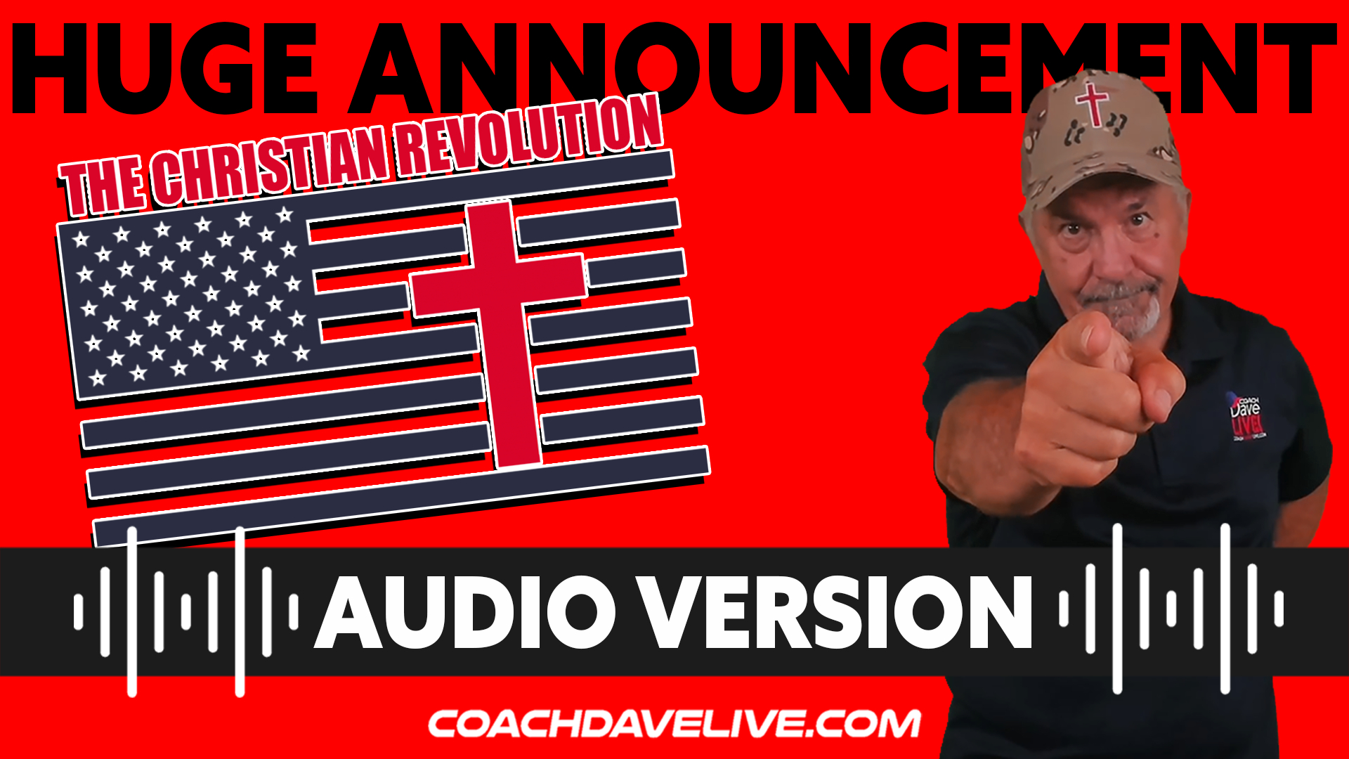 Coach Dave LIVE | 8-30-2021 | HUGE ANNOUNCEMENT - AUDIO ONLY
